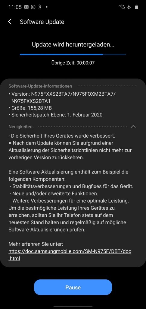 note 10 february 2020 security patch