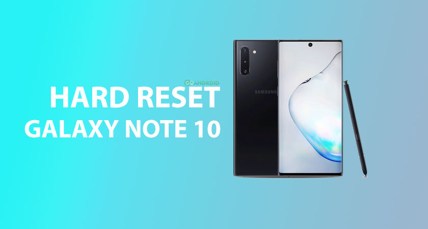 How to hard reset galaxy Note 10