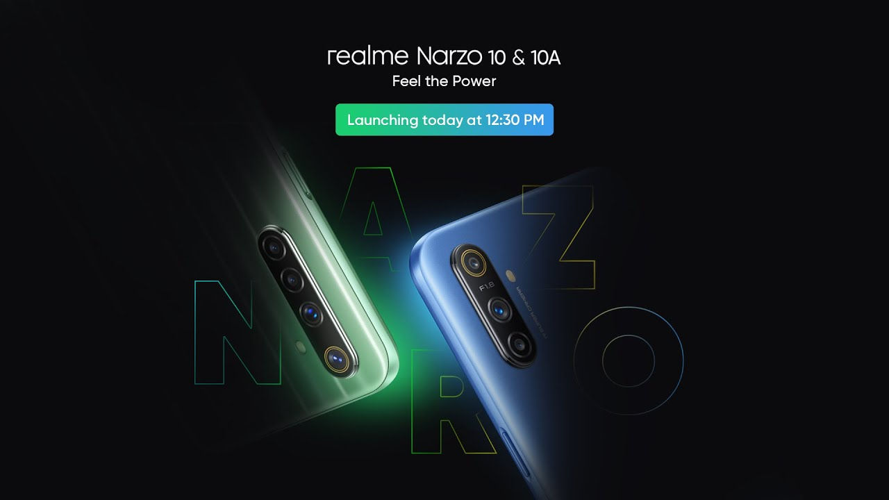 realme narzo 10 launch india live