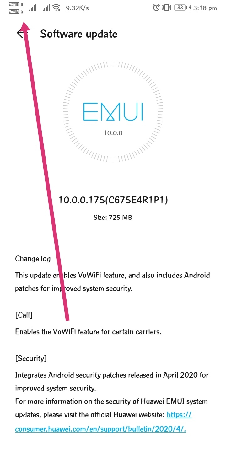 vowifi honor view 10