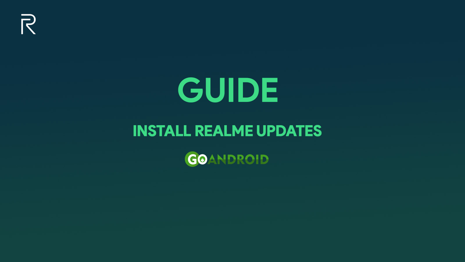 guide to install realme updates