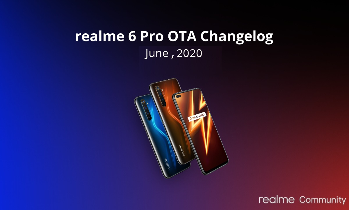 realme x3 and 6 pro june 2020 security patch update
