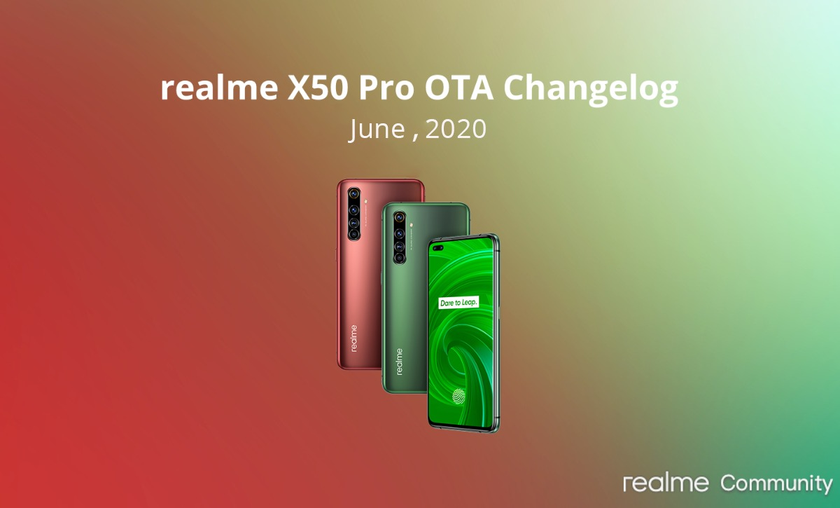 realme x50 pro 5g india june security patch udpate