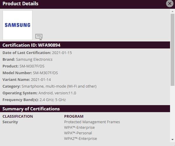 Samsung Galaxy M30s Android 11 Update