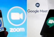 google meet and zoom