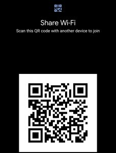 Android 12 DP 2 wi-fi sharing