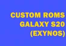galaxy s20 exynos custom roms