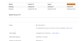 Google Play Console listing