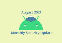 August 2021 security patch